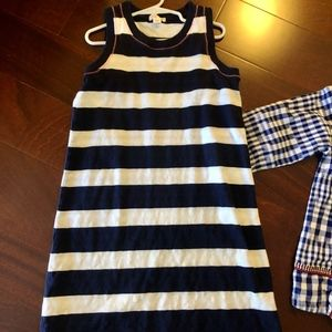 Crewcuts Girls Size 8 Dress Navy White Sleeveless